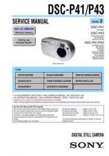 Buy Sony DSC-P71P51P31 Service Manual by download Mauritron #240258
