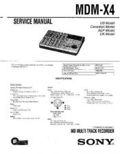 Buy Sony MDM-X4 Service Manual. by download Mauritron #242429