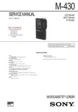 Buy SONY M430 Technical Info by download #104806