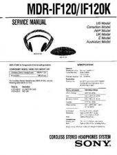 Buy Sony MDR-IF120 Manual by download Mauritron #229638