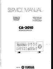 Buy YAMAHA CA-2010 SERVICE INFORMATION Manual by download Mauritron #230538
