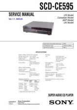 Buy Sony SCD-CE595 Service Manual by download Mauritron #232348