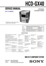Buy Sony HCD-GX40. Service Manual by download Mauritron #241069