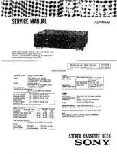 Buy Sony TC-K520 Service Manual. by download Mauritron #245386