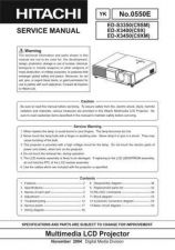 Buy Hitachi ED-X8250(CC9XM) Service Manual by download Mauritron #262148