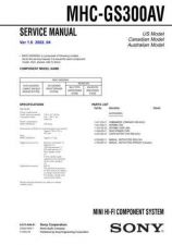 Buy Sony MHC-GX30-RG22-RG33 Service Manual. by download Mauritron #242883