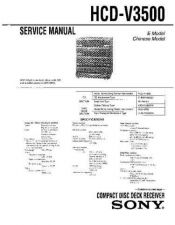 Buy Sony HCD-V3500 Manual by download Mauritron #229269