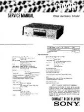 Buy Sony CDP-R1A Service Manual by download Mauritron #231686