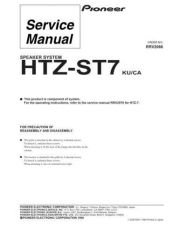 Buy Pioneer HTZ-ST7 Service Manual by download Mauritron #234625