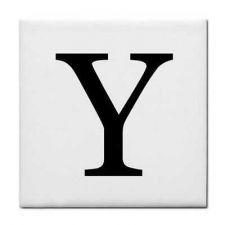 Buy Letter Y Alphabet Georgia Font Decorative Ceramic Tile