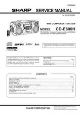 Buy Sharp CDE600H Service Manual by download Mauritron #208607