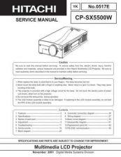 Buy Hitachi CPSXSERVICE5500W Service Manual Schematics by download Mauritron #2059