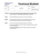 Buy Panasonic tb-99-05 Service Manual by download Mauritron #269017