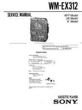 Buy Sony WM-EX312 Service Manual by download Mauritron #233432