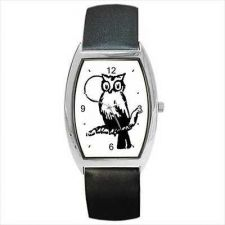 Buy Owl Moon Unisex Black and White New Barrel Wrist Watch