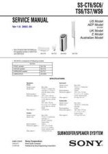 Buy Sony SS-CT6 Manual by download Mauritron #229800