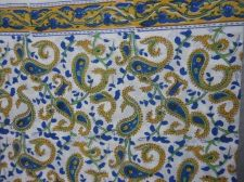 Buy Indian Hand Made pure cotton fabric hand block printed sanganeri block fabrics