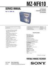 Buy Sony MZ-NF610 Service Manual by download Mauritron #232259