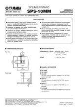 Buy Yamaha SPS-10MM E KAI1 Operating Guide by download Mauritron #249950