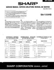 Buy Sharp SA103HB SM SUPPLEMENT GB-DE-FR Service Manual by download Mauritron #2103