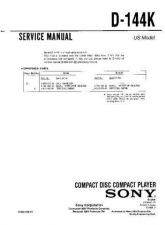 Buy Sony D-141-143 Service Manual by download Mauritron #239387