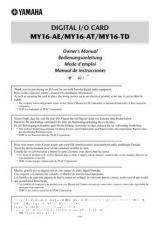Buy Yamaha MY16CII EN DE FR ES SS2 Operating Guide by download Mauritron #248916