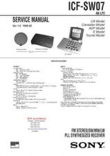Buy SONY ICFSW07 Technical Info by download #104756