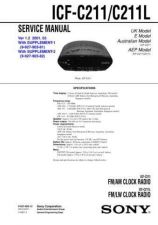Buy Sony ICF-C211-C211L Service Manual. by download Mauritron #241528