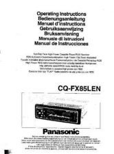 Buy Panasonic CQFX85 Operating Instruction Book by download Mauritron #235953