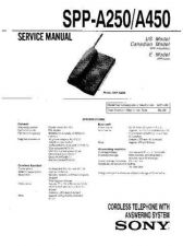 Buy Sony SPP-A250-A450 Service Manual by download Mauritron #233137