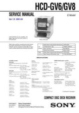 Buy Sony HCD-GSX75 Service Manual by download Mauritron #241052