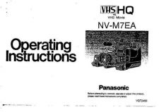 Buy Panasonic NVM7 Operating Instruction Book by download Mauritron #236248