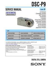 Buy Sony DSC-P92 Technical Information by download Mauritron #235585