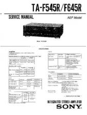 Buy Sony TA-F545R-F645R Service Manual. by download Mauritron #245280