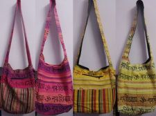 Buy 5 pcs wholesale lot women hand bags cotton fabric shoulder bags Christmas gift
