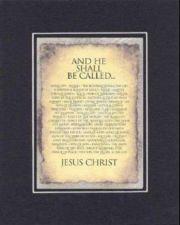 Buy Inspirational Poem - He Shall Be Called Jesus . . . BackOnBlack Double Matting