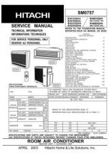 Buy Hitachi RAS-24CP1R - RAC-24CVP1 Service Manual by download Mauritron #264047