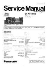Buy Panasonic sa_ax710_p_pc Service Manual by download Mauritron #268609