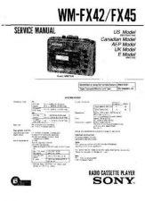 Buy Sony WM-FX413-FX415 Service Manual. by download Mauritron #245806