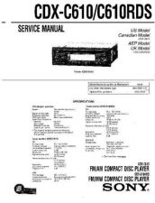 Buy Sony CDXC5000XService Manual by download Mauritron #237591