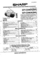 Buy Sharp QTCD80H-X -DE-FR Service Manual by download Mauritron #210250
