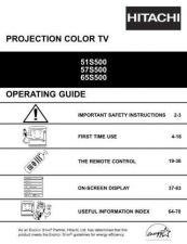 Buy Hitachi 51S500 Manual by download Mauritron #224257