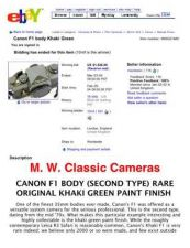 Buy CANON F1OLIVE FD CAMERA INSTRUCTIONS by download #118442
