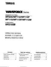 Buy Yamaha WF115E Operating Guide by download Mauritron #250260