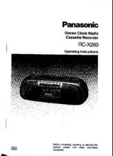 Buy Panasonic RCX260 Operating Instruction Book by download Mauritron #236323