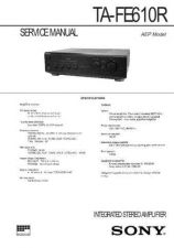 Buy Sony TA-FE610R Manual by download Mauritron #229885