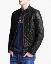Buy New Men Lambskin Leather Jacket Male Motorcycle Biker Coat Size XS S M L XL K787