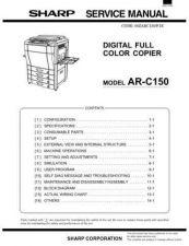 Buy Sharp SHARP AR-C150 SERVICE Service Manual by download Mauritron #210641