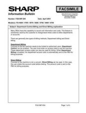 Buy SHARP FAX287 TECHNICAL BULLETIN by download #104442