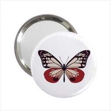 Buy Pink Butterfly Round Handbag Purse Mirror